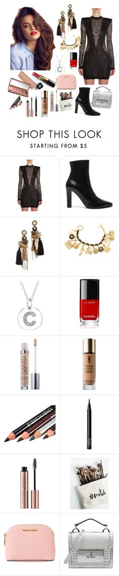 """""""Special Dinner"""" by alinesantos16 ❤ liked on Polyvore featuring beauty, Balmain, Yves Saint Laurent, Deepa Gurnani, Chanel, Urban Decay, NARS Cosmetics, Free People, MICHAEL Michael Kors and Marc Jacobs"""