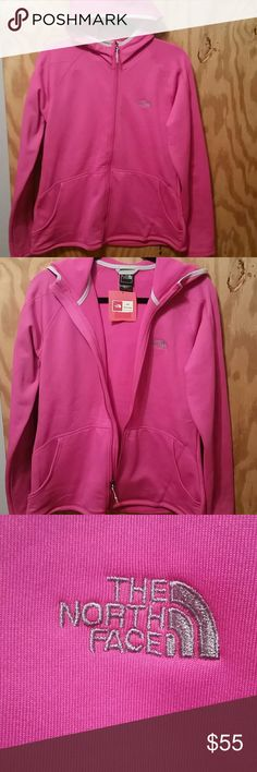 Nwt the North Face Lanie Hoodie Azalea Pink sz Lrg New with tags  The North Face Lanie Hoodie  Azalea Pink  Size large  Has hand pockets and is soft lined with nylon type outer The North Face Jackets & Coats
