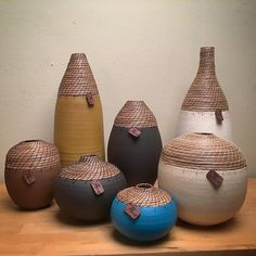 Basketry and ceramics See this Instagram photo by @hanniegoldart • 454 likes