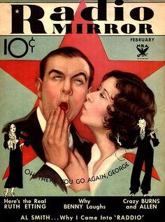 George Burns and Gracie Allen. Radio Mirror.  February 1934
