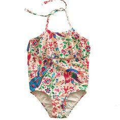 zimmerman tapestry verano flare swimsuit - swim - girl | Thumbeline Little Fashion, Kids Fashion, Kids Swimwear, Swimsuits, Zimmerman, Baby Dress, Flare, Girl Outfits, Bodysuit