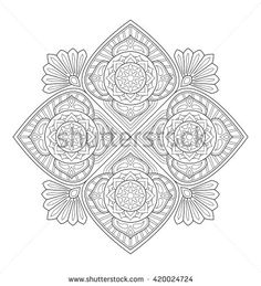 Decorative mandala illustration for adult coloring, well arranged group and easy to edit