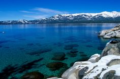 Lake Tahoe is known for its cold yet beautiful, clear blue water.