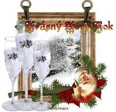 Online Image Editor, Online Images, Happy New Year, Merry Christmas, Santa, Table Decorations, Free, New Year Greetings, New Years Eve