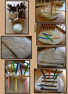 Encourage your youngster to explore lines with this hands-on project! Play Doh Fun, Play Dough, Indoor Activities For Kids, Learning Activities, Reggio, Curiosity Approach Eyfs, Kindergarten Stem, Preschool, Montessori Classroom