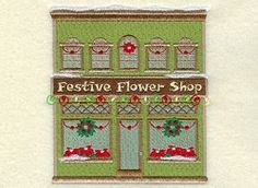 Christmas Village Flower Shop - 5x7 | What's New | Machine Embroidery Designs | SWAKembroidery.com Starbird Stock Designs