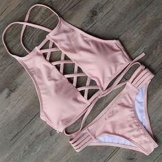 New Push Up Brazilian #Bikini #2016 Sexy Mesh Bandage Bikinis…