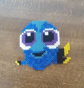 Baby Dory hama beads by lea_willems Baby Dory hama beads by lea_willems – Disney Crafts Ideas Perler Bead Emoji, Diy Perler Beads, Pearler Beads, Fuse Beads, Hama Perler, Hama Disney, Hama Beads Disney, Melty Bead Patterns, Hama Beads Patterns