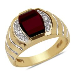 Ebay NissoniJewelry presents - .07CTTW Men's Ring with Garnet in 14k Yellow Gold    Model Number:GRV3123A-Y477GA    http://www.ebay.com/itm/.07CTTW-Men-s-Ring-with-Garnet-in-14k-Yellow-Gold/221864936965