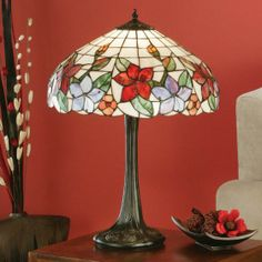 Country Border Table Lamp Country Border Table Lamp, wild flowers on a refreshing white backdrop. H:	570 W:	420 D:	420 Bulbs:	1 x 60 E27 Fittings:	DB130L1 Shade:	TV152SHM