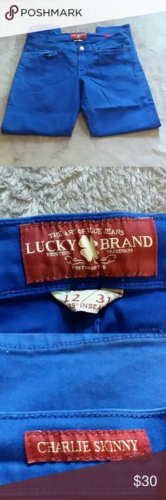 Lucky Brand women's size 12 Charlie skinny jeans Lucky Brand women's size 12 Charlie skinny blue votes jeans Lucky Brand Jeans Skinny