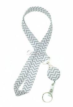 Wave Fabric Neck Chevron LANYARDs Keychain with retractable reel for Key / ID / Cell Phone Holder (Gray), http://www.amazon.com/dp/B00NM37TEW/ref=cm_sw_r_pi_awdm_ALoJub0D0RPZ9