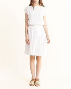 Accordion dress in white by Black Crane