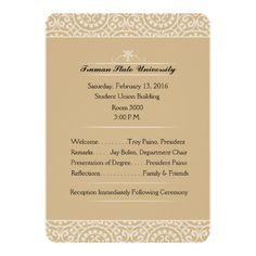 Memorial Service Invitation - Elegant Gold & White