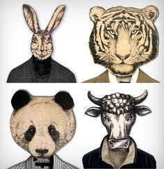 Anthropomorphic Animal Coat Hangers From Design Atelier Article on Etsy and/or Amazon.