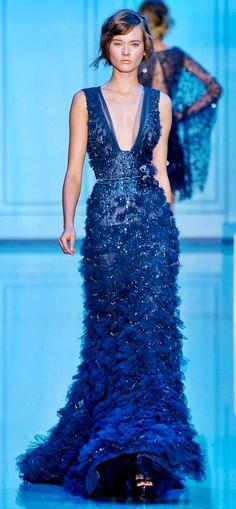 Elie Saab. Gorgeous royal blue evening dress
