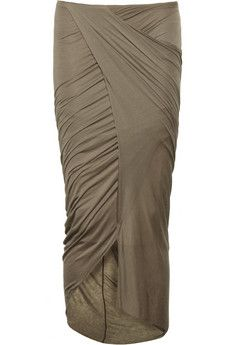 Helmut Lang | Draped jersey wrap-effect skirt | NET-A-PORTER.COM