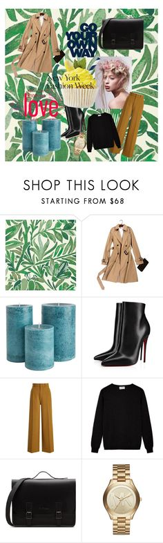 """""""New York fashion week - my outfit"""" by rebekastar ❤ liked on Polyvore featuring Christian Louboutin, Joseph and Michael Kors"""