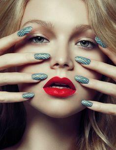 Nails: Annie Lam Makeup&Hair: Elena Pacienza Photo: Gabe Toth Model: Clodelle @ Next