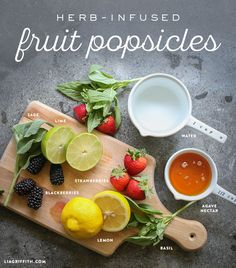 Herb Infused Popsicles Recipes & How to from Michaels Makers Lia Griffith