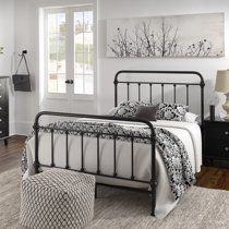 King Metal Bed Frame, Wrought Iron Bed Frames, Black Metal Bed Frame, White Metal Bed, Metal Beds, Black Iron Beds, Bedding Master Bedroom, Queen Bedroom, Master Bedrooms