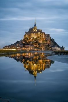 Mont Saint Michel, France  ***look it up on google and read about it! Sounds mystical and wonderful!~April