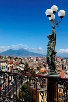 Aussicht vom Grand Hotel Parker's, Neapel, Italien
