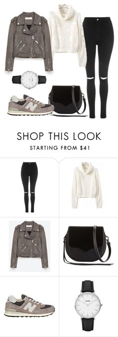 """""""Sans titre #799"""" by alexejrd ❤ liked on Polyvore featuring Topshop, Jakke, Rebecca Minkoff, New Balance and CLUSE"""