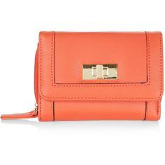 New Look Orange Twist Lock Mini Purse ($9.21) ❤ liked on Polyvore featuring bags, wallets, orange, orange wallet, orange bag, mini wallet, turnlock wallet and red mini bag