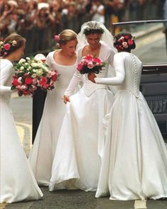 JULY 14, 1994:  Lady Sarah Armstrong-Jones, daughter of Princess Margaret Rose and niece of Queen Elizabeth II, is made perfect outside Saint Stephen Walbrook Church, moments before the saying of her wedding vows with Daniel Chatto.