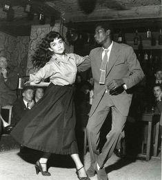 Juliette Greco y Miles Davis por R. Doisneau