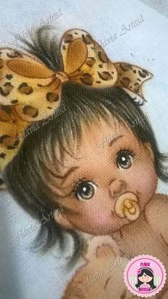 Baby Painting, Eye Painting, Fabric Painting, Kids Patterns, Doll Patterns, Black Art Pictures, Cute Pictures, Doll Face Paint, Black Baby Dolls