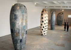 Jun Kaneko was born in Nagoya, Japan in 1942 and went to the USA in 1963. He began studying ceramic art at theChouinard Institute of Art in California where his focus became drawn to sculptural ceramics. He expanded his studies incontemporaryceramicswith Peter Voulkos in Los Angeles and alsoPaul Soldnerand Jerry Rothman. He has sincepursued a dynamic and varied studio practice in painting, sculpture, ceramics and installations, and he's currently based at his third studio inOmaha…
