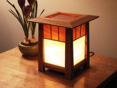 Mission style Lantern Night Light - Arts and Crafts Inspired - FREE SHIPPING