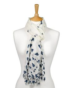 Take a look at this Quintessential: Navy Heart Scarf by Quintessential on #zulily today!