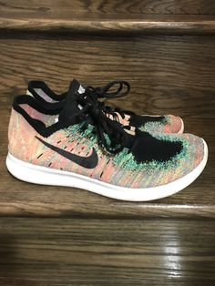 finest selection 3538b 4cfe1 Mens Nike Free RN Flyknit 2017 Multi Color Running Shoes Sz. 9