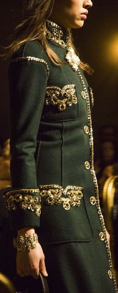 Chanel green coat