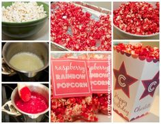 raspberry rainbow popcorn....or whatever flavor you want to use.