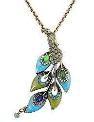 allthingspeacock - Peacock Pendant Necklace $74.99