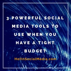 In this post, you will find some of the powerful social media tools to use regardless if you are a small business, entrepreneur, blogger or even a solopreneur who want to make a mark in this challenging world.