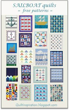 Free Pattern Day:  Sailboats.  January 2016 at Quilt Inspiration.