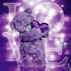 Holographic Tatty Teddy with Heart Me to You Bear Card Purple Love, All Things Purple, Purple Lilac, Purple Rain, Shades Of Purple, Purple Stuff, Tatty Teddy, Teddy Pictures, Bear Pictures
