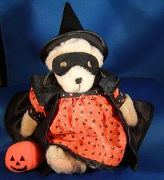 1982 Muffy Vander Bear Dressed Halloween Witch by RosaInGlousta, $99.99