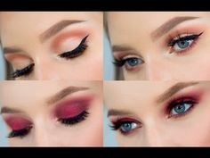 Peachy Makeup Tutorial   Modern Renaissance Palette - YouTube