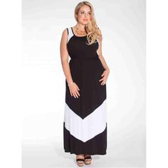 Gia Plus Size Maxi Dress in Black/White $43.20 http://www.curvyclothing.com.au/index.php?route=product/product&path=59_61&product_id=1221