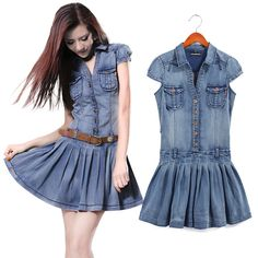 Long Denim Dress 2014 Women's Jeans Dresses by Jessieclothing ...