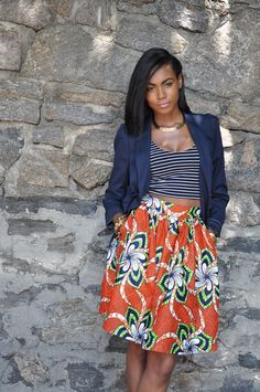 African Print Skirt The Laura Skirt by CHENBURKETTNY on Etsy, $99.00