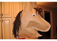 DIY Stick Horse: Have the kids make these inside and then take them outside to have horse races.