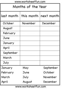 Months of the Year – 4 Worksheets / FREE Printable Worksheets – Worksheetfun Year 4 Maths Worksheets, 1st Grade Reading Worksheets, Seasons Worksheets, French Worksheets, English Worksheets For Kids, Reading Comprehension Worksheets, Free Printable Worksheets, Printable Tickets, English Grammar For Kids