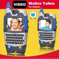 Big sale US $43.11  Video Talk Walkie Talkie For Children Interesting Communication Toy with Qwerty Radio 150m Talk Range  #Video #Talk #Walkie #Talkie #Children #Interesting #Communication #with #Qwerty #Radio #Range